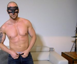 Maskurbate Shawn Hardy rubs one out