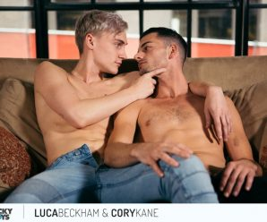 Cocky Boys Cory Kane pounds Luca Beckham