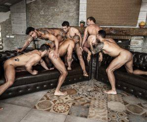 Lucas Entertainment Rico Marlon stars in six-man orgy