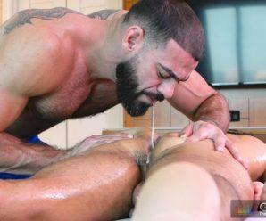 Gay Room Ricky Larkin rams Max Marciano