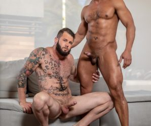 Noir Male Dillon Diaz and Johnny Hill flip fuck